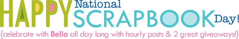 NATIONAL SCRAPBOOK DAY 2013